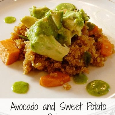 Avocado & Sweet Potato Quinoa with Cilantro Dressing