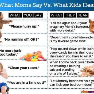 Mom Vs. Kids, It's All A Matter of What You Hear