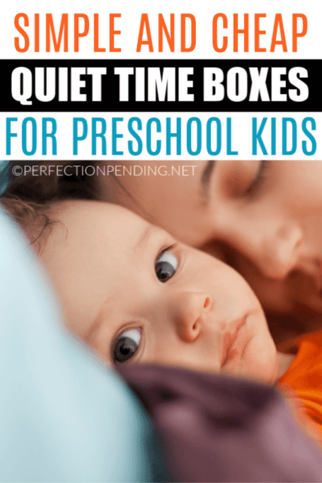 These quiet time boxes are the perfect solution for a toddler, preschooler, or any child at home that doesn't want to nap. These easy quiet time activity boxes are full of fun things like finger puppets, small toys, sensory activities, and other quiet things your pre Kindergarten age kid can do independently.  #quiettimeboxes #quiettimeactivities #toddlers