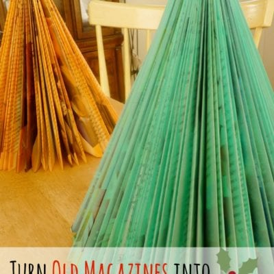 Magazine Christmas Tree Tutorial (or an activity to keep your kids quiet)