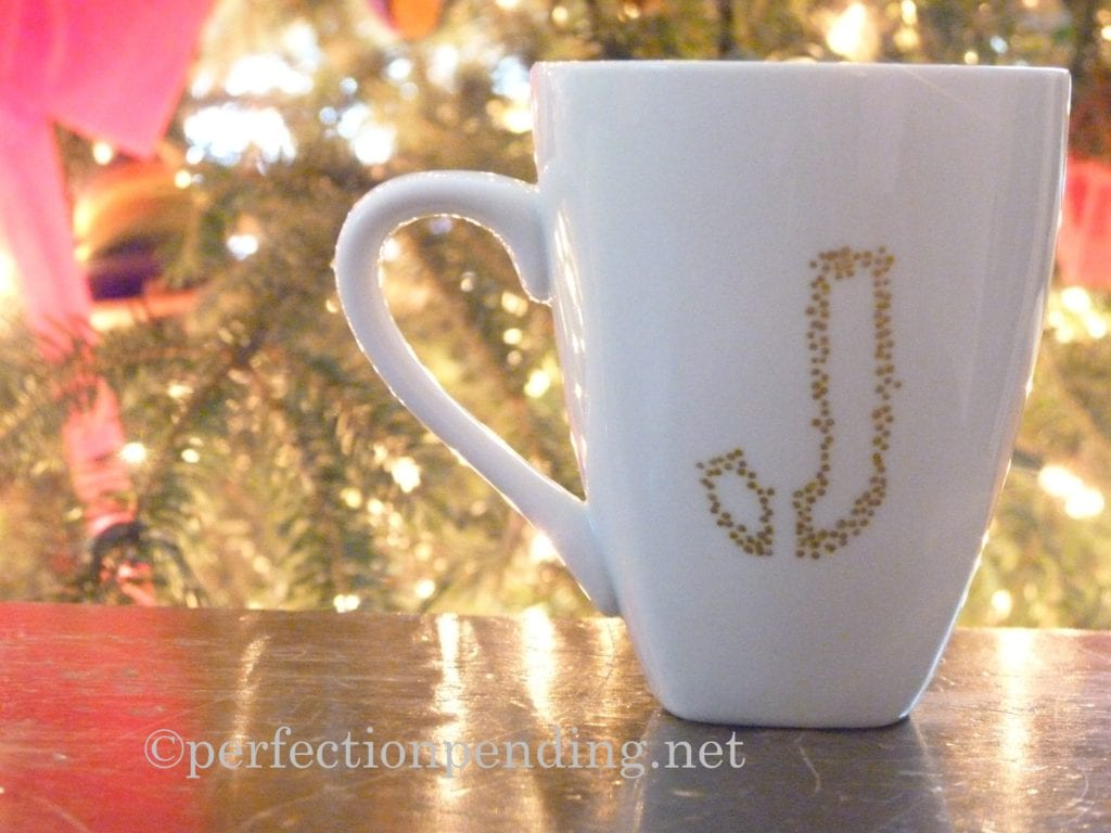 Sharpie Mug with Initial from Perfection Pending.net