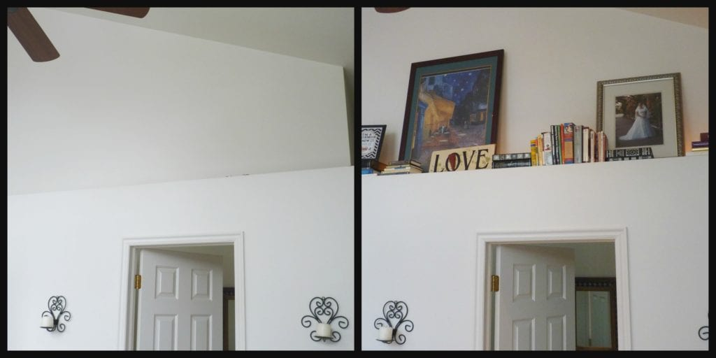 Before and After Book Ledge