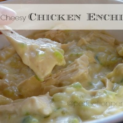 Cheesy Chicken Enchilada Dip or Creamy Chicken Enchiladas