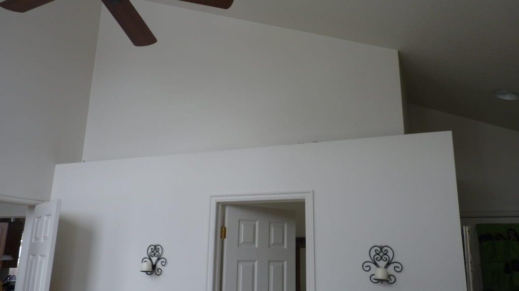 Empty space on ledge