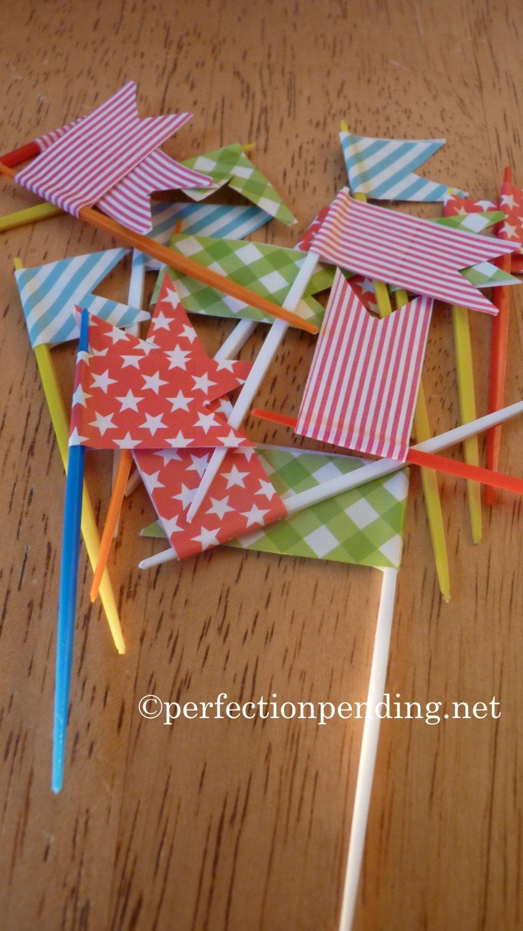 Washi Tape Toothpic flags