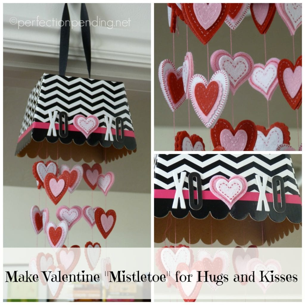 Make Valentine Mistletoe for Hugs and Kisses