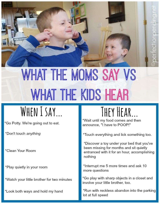 Moms Vs. Kids