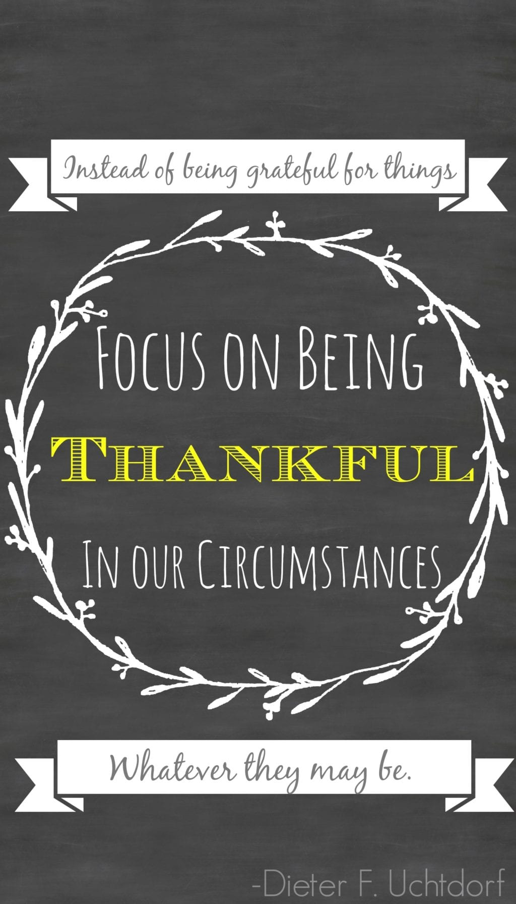 Don't be Thankful for Things. Be Thankful for Your Circumstances