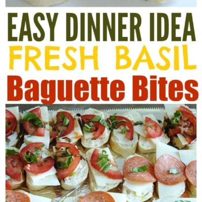 Easy Summer Dinner Idea: Balsamic Baguette Bites