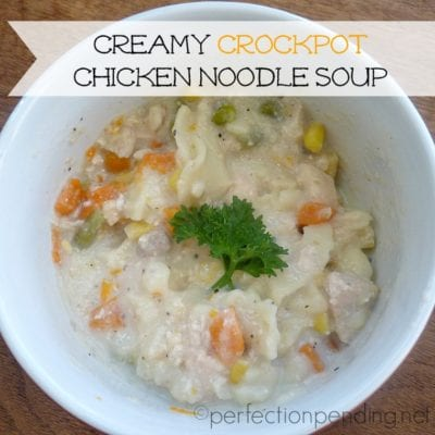 Creamy Crockpot Chicken Noodle Soup