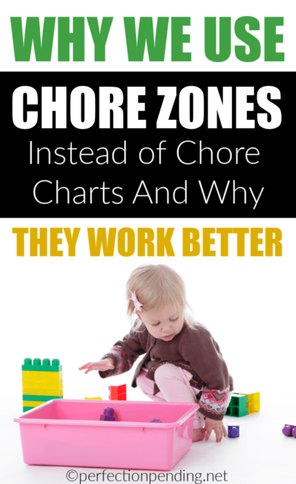Chore charts are good for some kids, but they are a lot of work for parents to keep track of. If you're looking for an alternative to chore charts, and a way to teach your kids responsibility of picking up their own toys, the chore zone method is the BEST! #chores #chorechart #choreccharts #responsibility #teachingkids #positiveparenting #teamwork #momlife #chorezones
