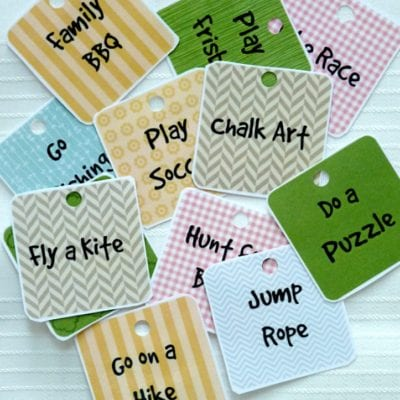 "Summer ""Unplugged"" Activity Card Printables"