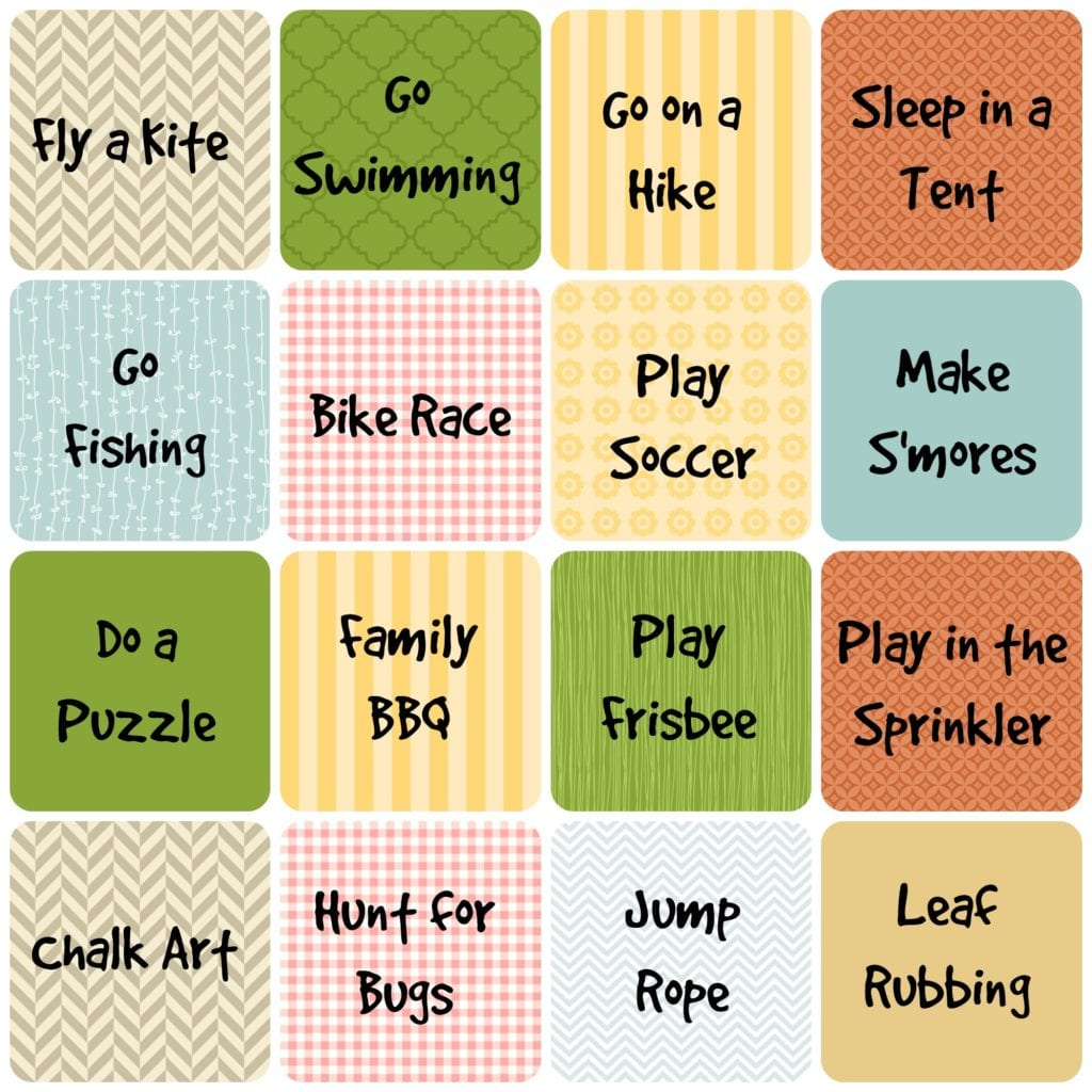 Summer Unplugged. Use these fun cards to have an unplugged summer with your kids full of free activity ideas you can do at home