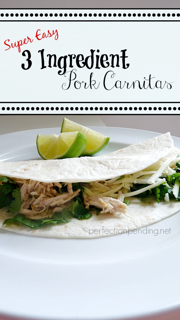 Super Easy 3 Ingredient Pork Carnitas (In the Crockpot!!)