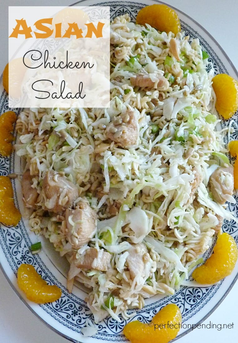 Asian Chicken Salad. The Perfect Light Dinner for Summer