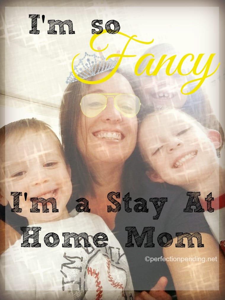 I'm so Fancy. I'm a Stay At Home Mom. Are you fancy too