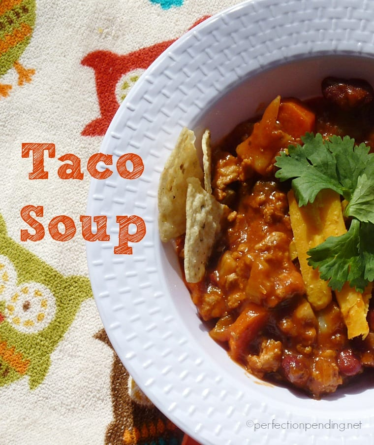 Taco Soup. The Easiest dinner for busy families!