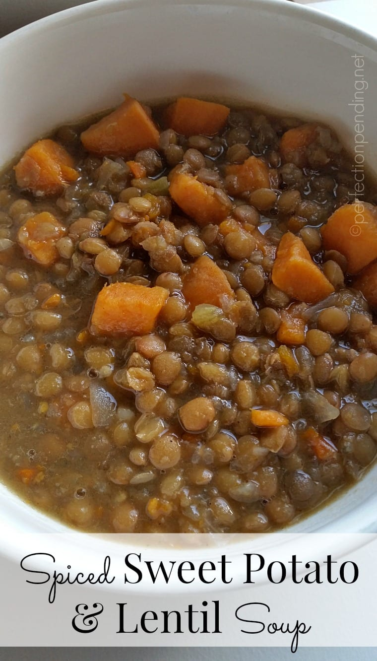 The PERFECT Crockpot Recipe! Spiced Sweet Potato & Lentil Soup!! So yummy for Fall & Winter