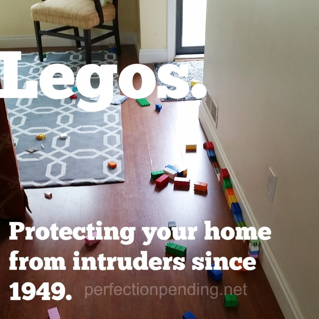 Legos. Protecting your home from intruders since 1949.