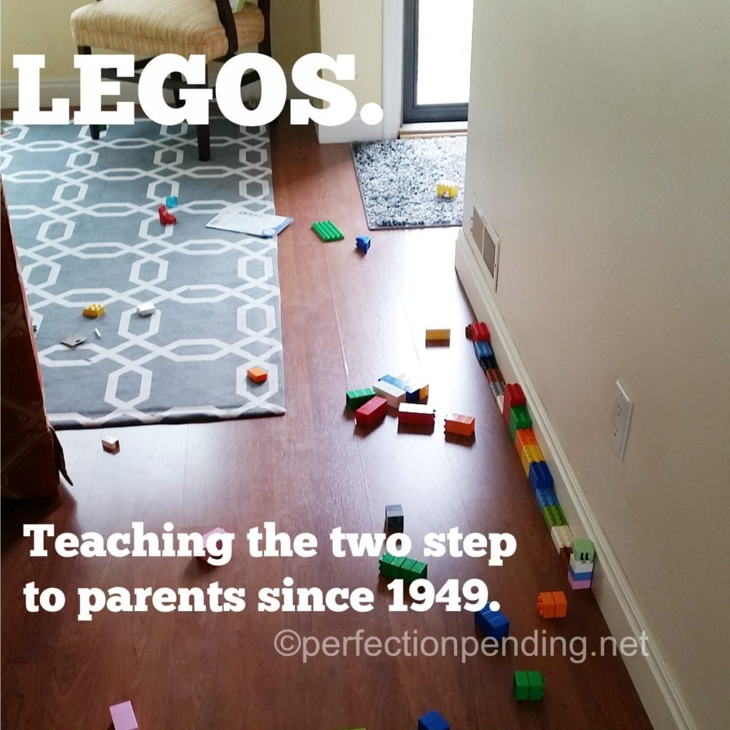 Legos. Teaching the parents the two step since 1949.