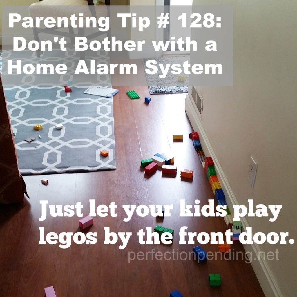 Parenting Tip Legos will protect you from intruders. perfectionpending.net