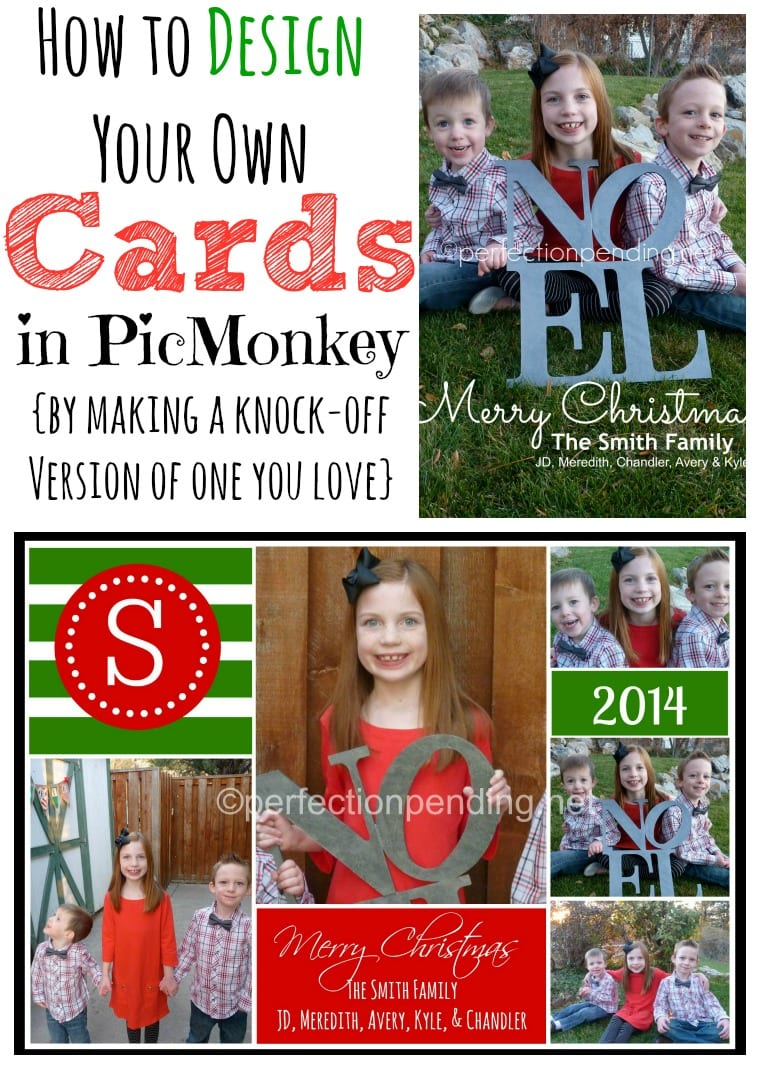 how to create your own christmas card in picmonkey