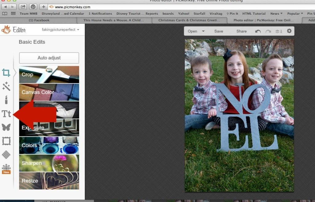 How to Create Your Own Christmas Card in PicMonkey - Perfection Pending