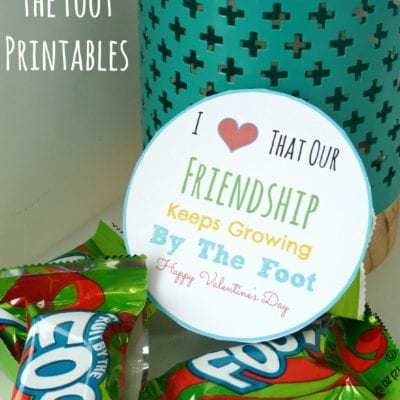 Fruit By the Foot Printables for Birthdays and Valentine's Day