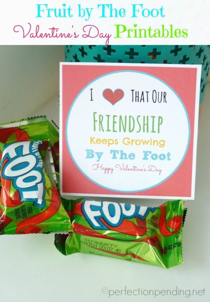 Fruit By The Foot Valentine's Day Printables