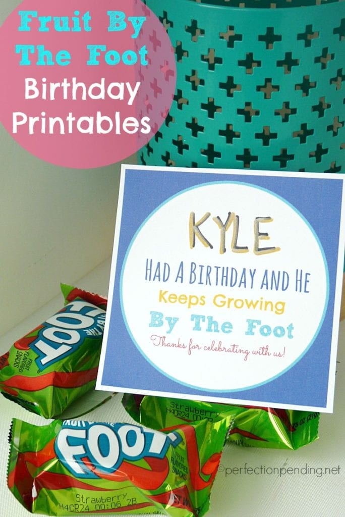 Fruit By the Foot Birthday Printables