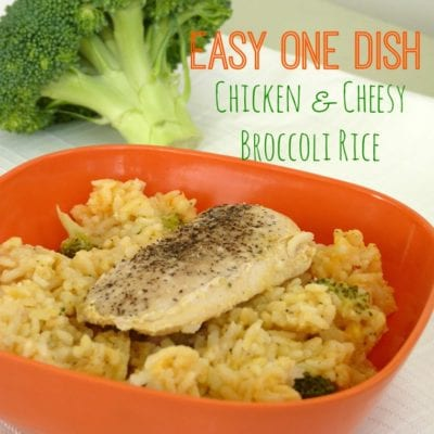 Easy One Dish Chicken & Cheesy Broccoli Rice
