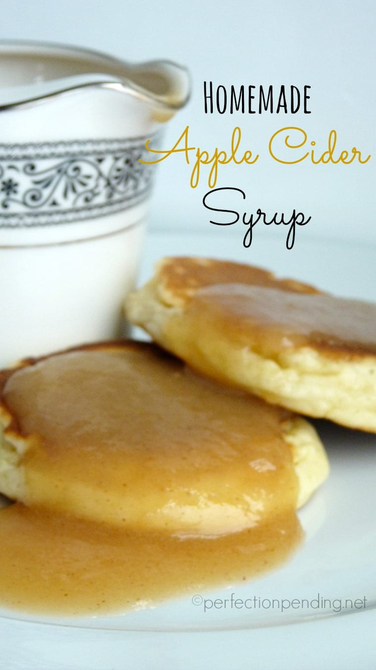Homemade Apple Cider Syrup. The perfect sweet syrup for breakfast with just a hint of apple and pumpkin spice flavor.