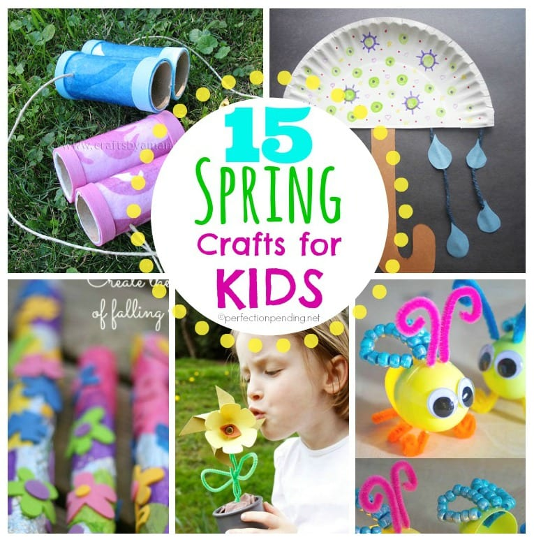 15 Spring Crafts for Kids! SO many easy ideas I would actually do.