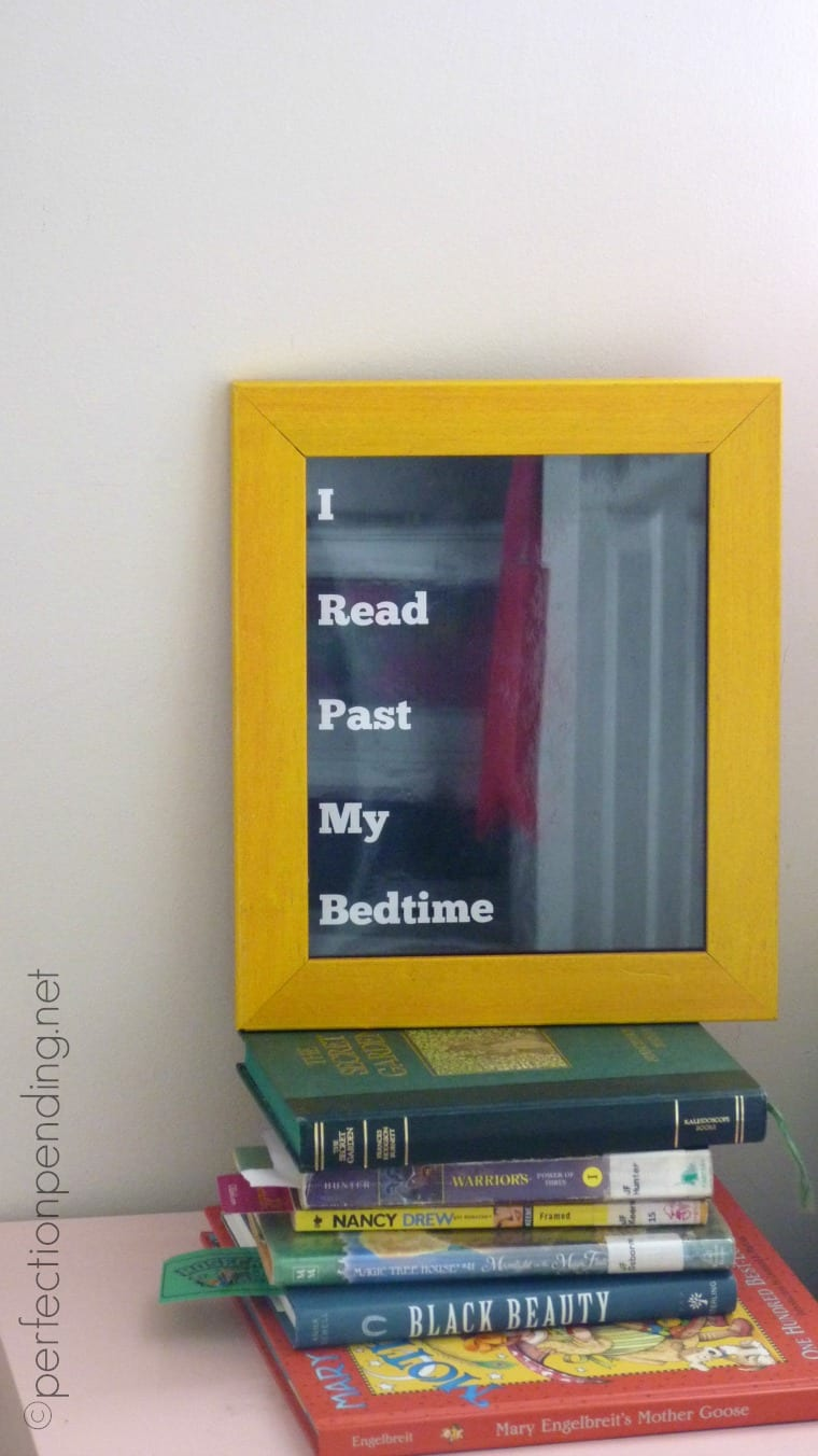 I Read Past My Bedtime Free Printable! Perfect for a kid that loves to read!