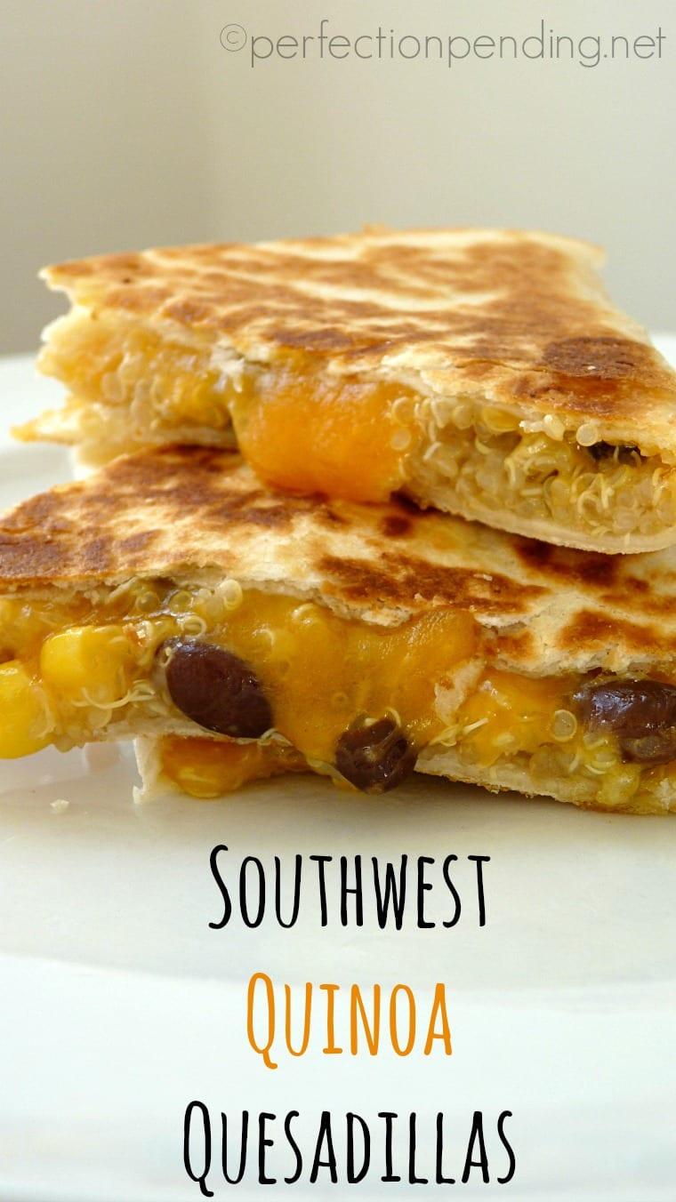 Southwest Quinoa Quesadillas