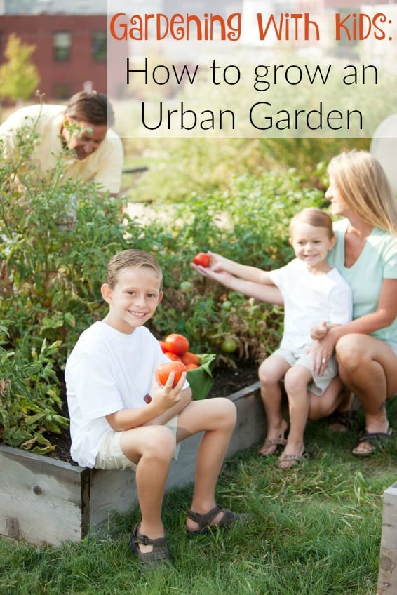 A full length image of a caucasian real family picking vegetables together in a garden for healthy eating. Riley, Logan, Sarai, MIke Underwood