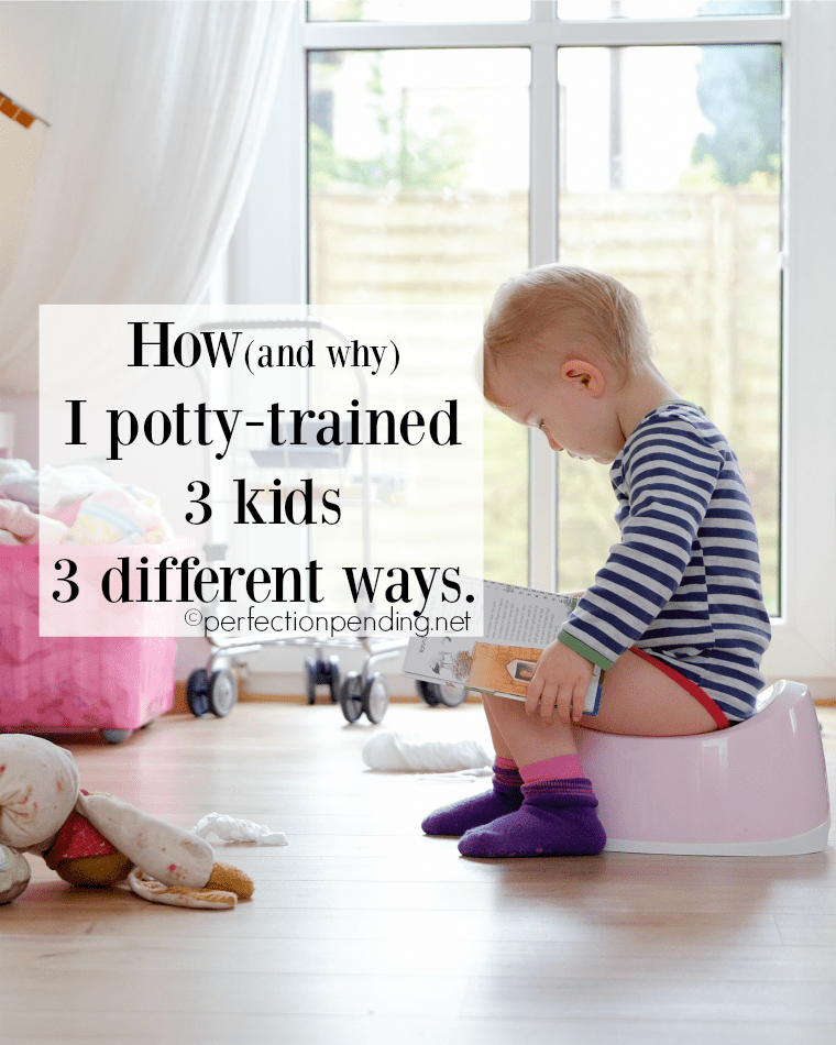 How and Why I potty-trained 3 different kids 3 different ways. And tips and tricks that really work