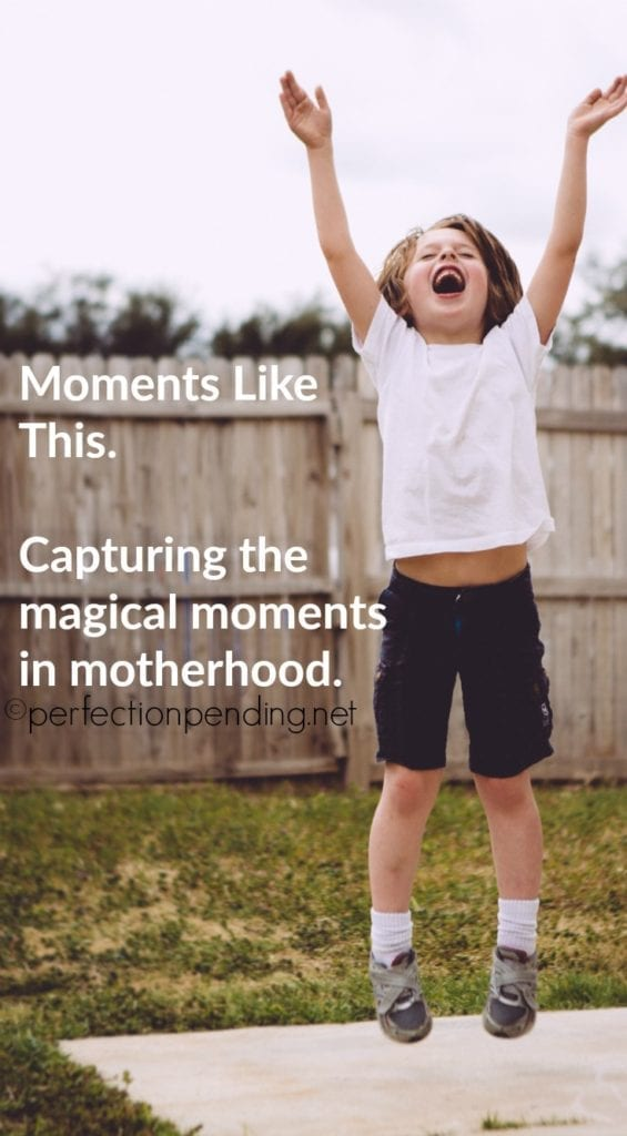 Moments Like This. A beautiful blog post about capturing the magical moments in motherhood.