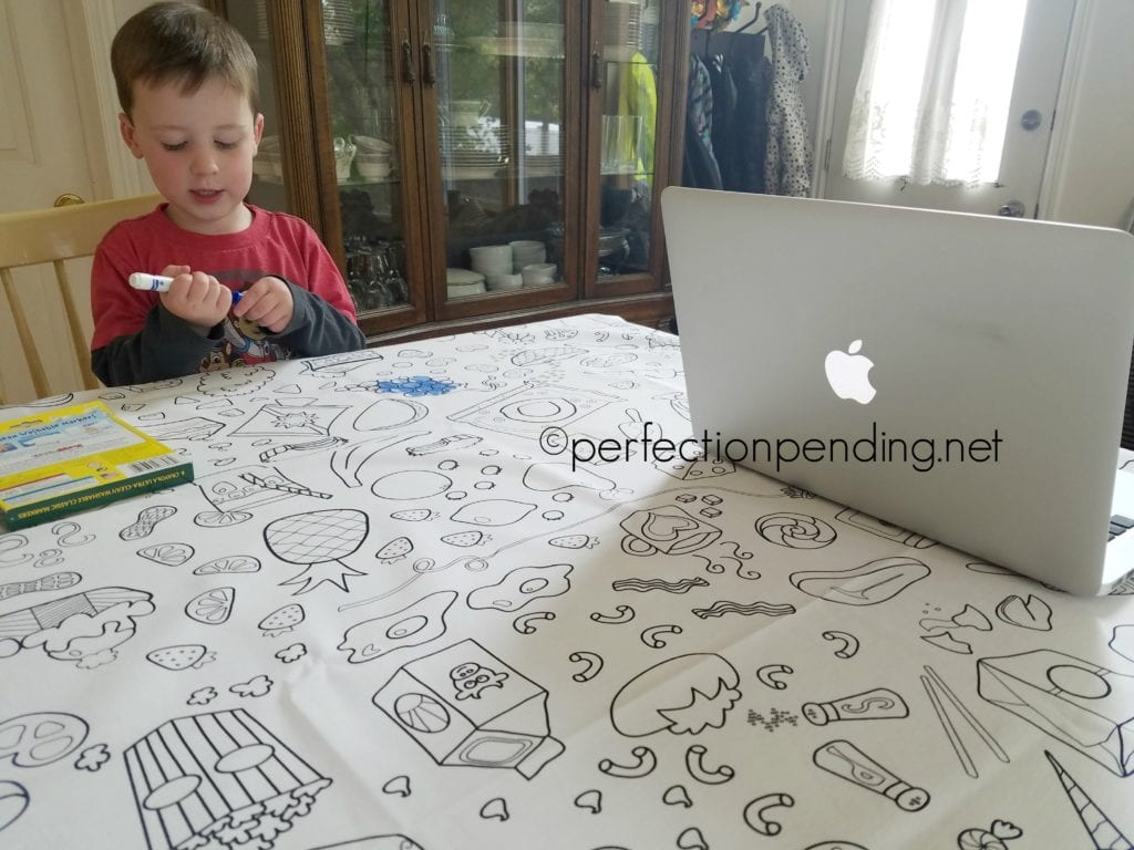 The Coloring Table Reusable tablecloth