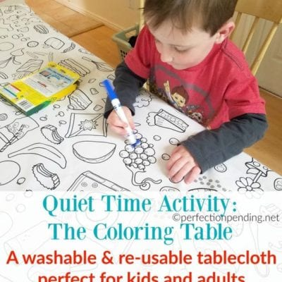 Quiet Time Activity for Busy Moms: The Coloring Table