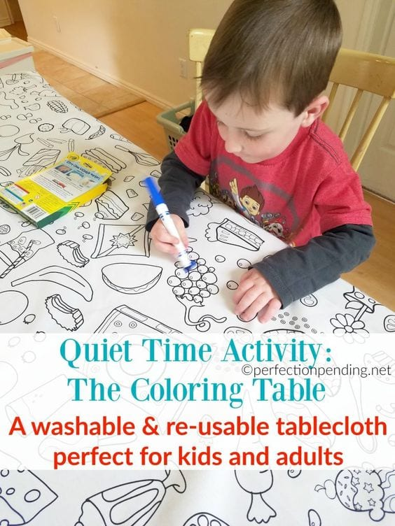 Quiet Time Activity for Busy Moms: The Coloring Table - Perfection ...