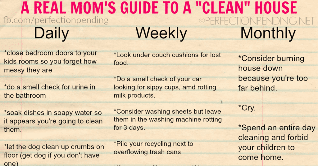 A Real Mom S Guide To A Clean House Perfection Pending