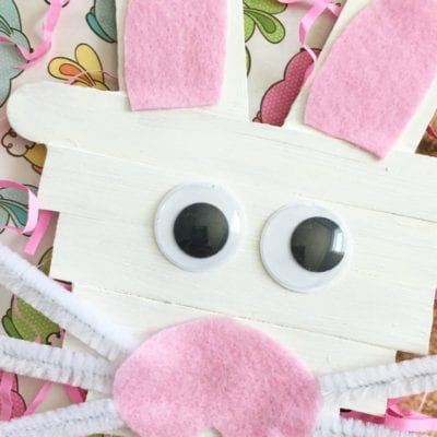 Easy Popsicle Stick Bunny Craft for Easter