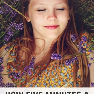 How Five Minutes a Day Helps Me Be a Better Parent