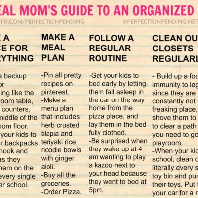 The Real Mom's Guide To Getting Organized