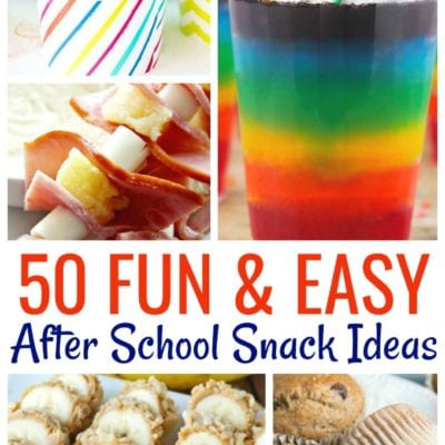 50 After School Snack Ideas For Kids
