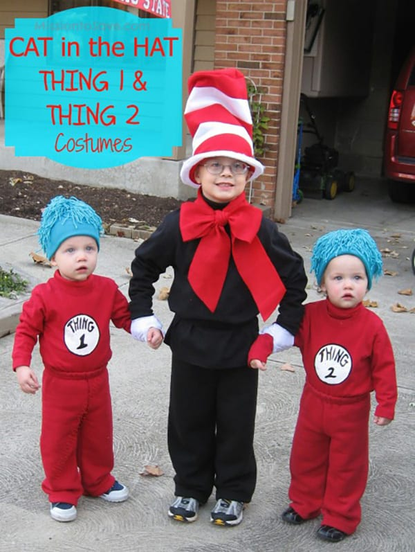 easy cat in the hat thing 1 and thing 2 costumes mission to save