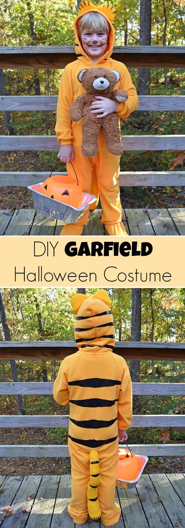 Easy DIY Garfield Costume | Adventures of Mel  sc 1 st  Perfection Pending & 49 Easy DIY Halloween Costumes for Kids - Perfection Pending
