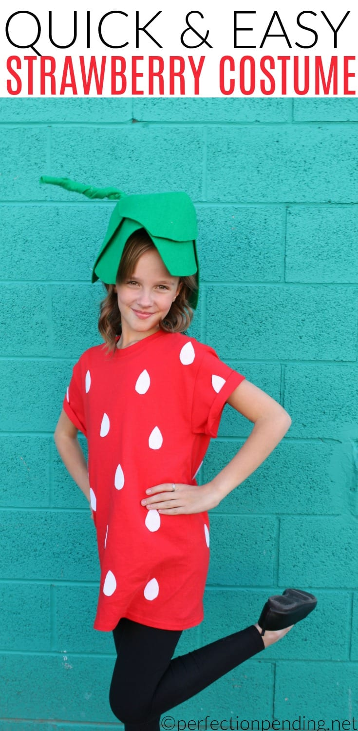 Easy Strawberry Costume For Tweens  sc 1 st  Perfection Pending & 3 Fun u0026 Fruity Costume Ideas for Tweens From Edible Arrangements ...