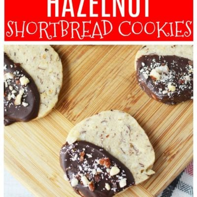 Neighbor Gift Idea – Hazelnut Shortbread Cookies